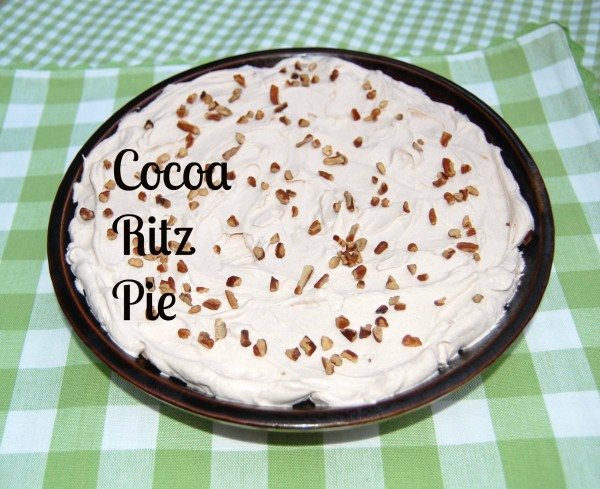 cocoa ritz pie marked