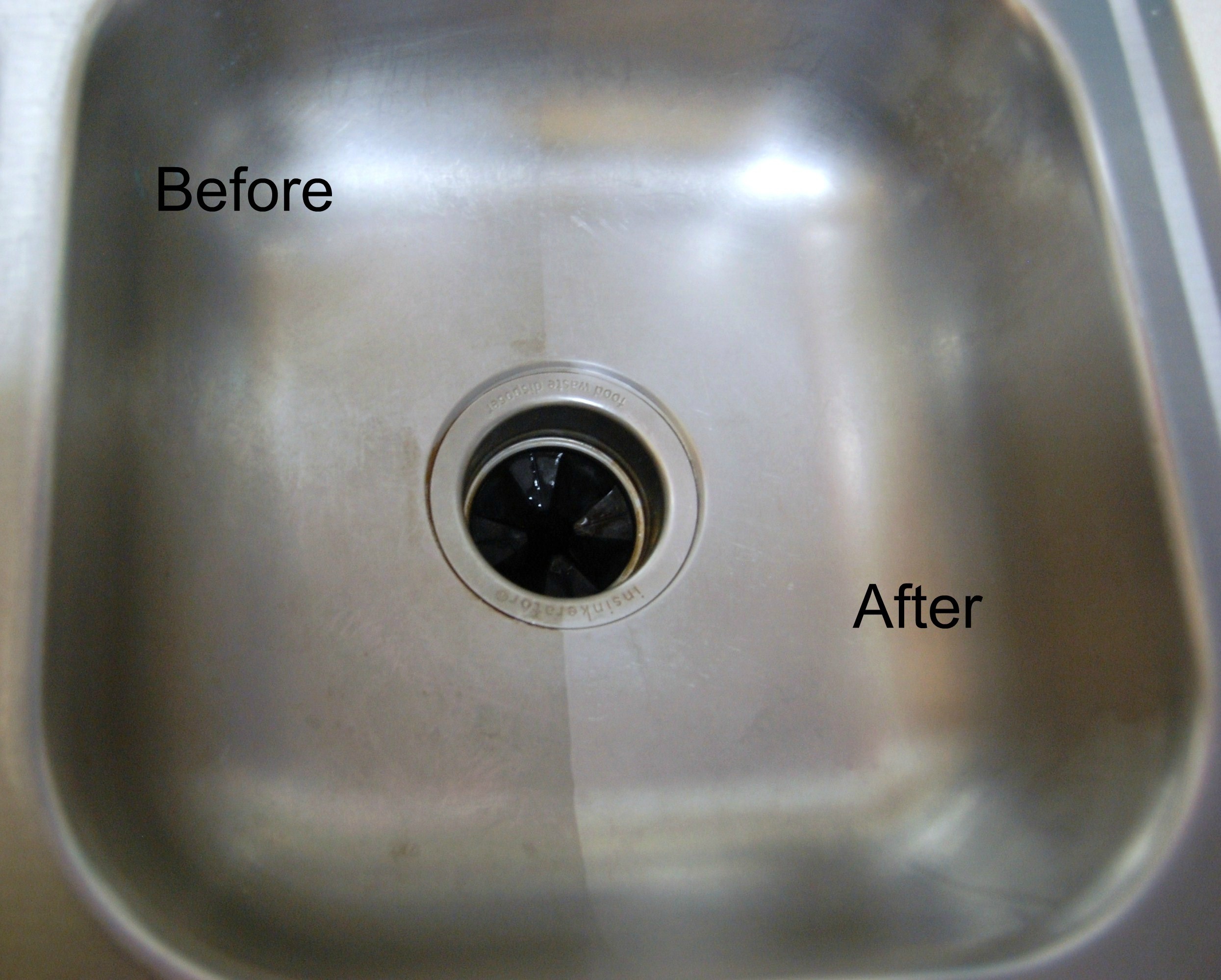 A Stainless Steel Sink Made Shiny And New My Home And