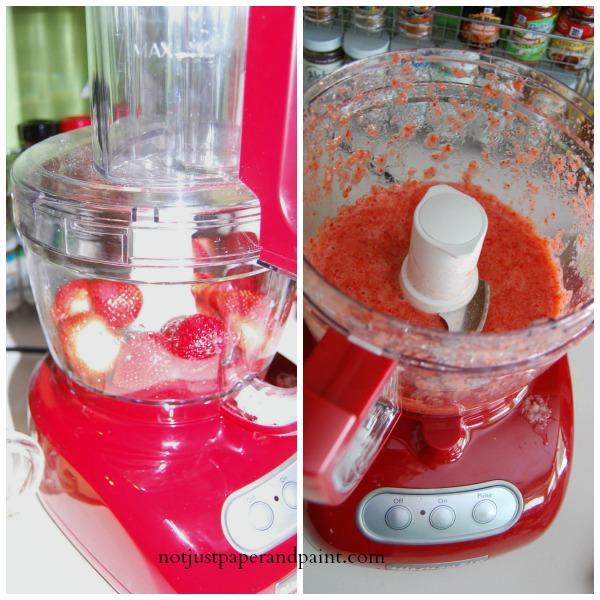 pureed strawberries