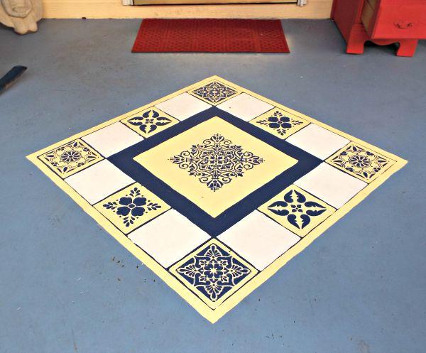 stencil floor