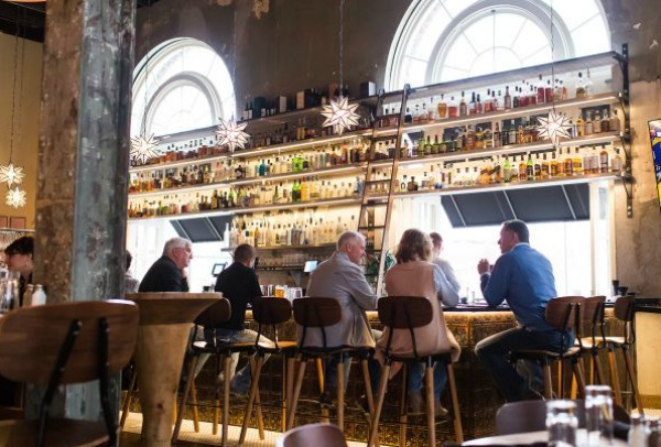 liquor wall notjustpaperandpaint.com