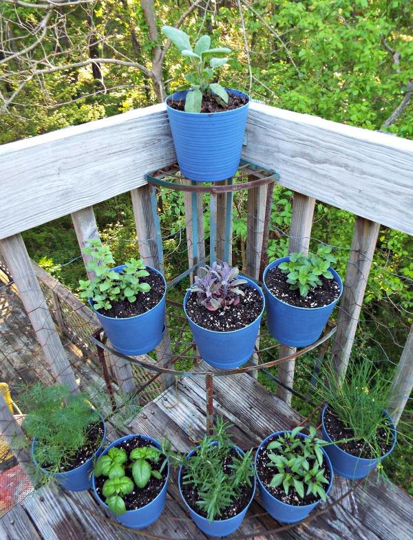 tiered pots notjustpaperandpaint.com