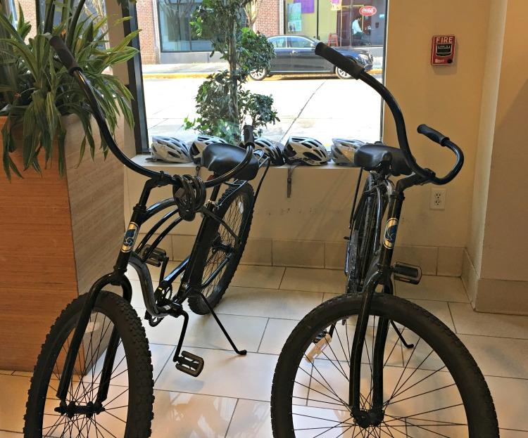 Bikes are available for guests during their stay at Hotel Indigo, Baton Rouge.
