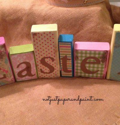 Wooden EASTER Blocks