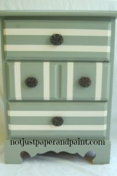 Striped again – an old nightstand has new life