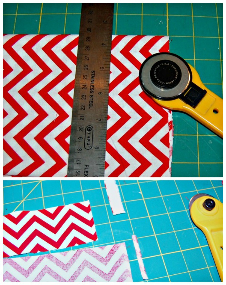 measuring and cutting the fabric