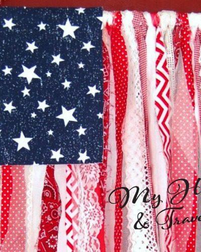 Shabby Chic American Flag