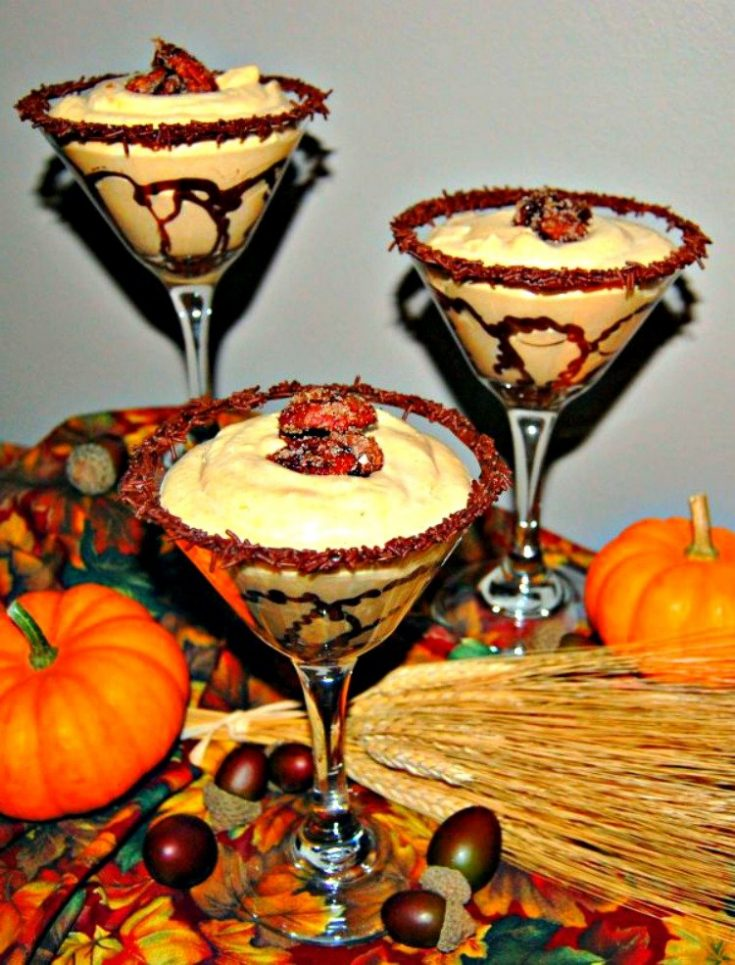 Pumpkin Mousse with Candied Pecans and a Little Chocolate
