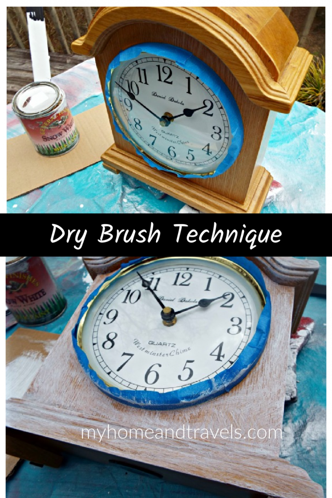 dry brush technique my home and travels