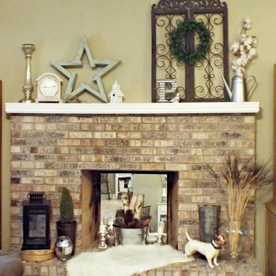 Transitional Mantel – Not Spring Yet!