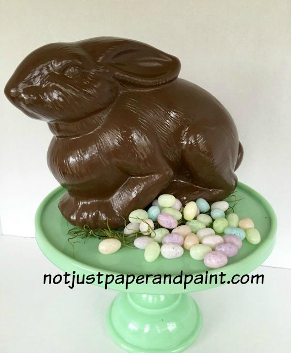 bunny painted named chocolate notjustpaperandpaint.com