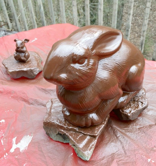Painted Chocolate Easter Bunny my home and travels