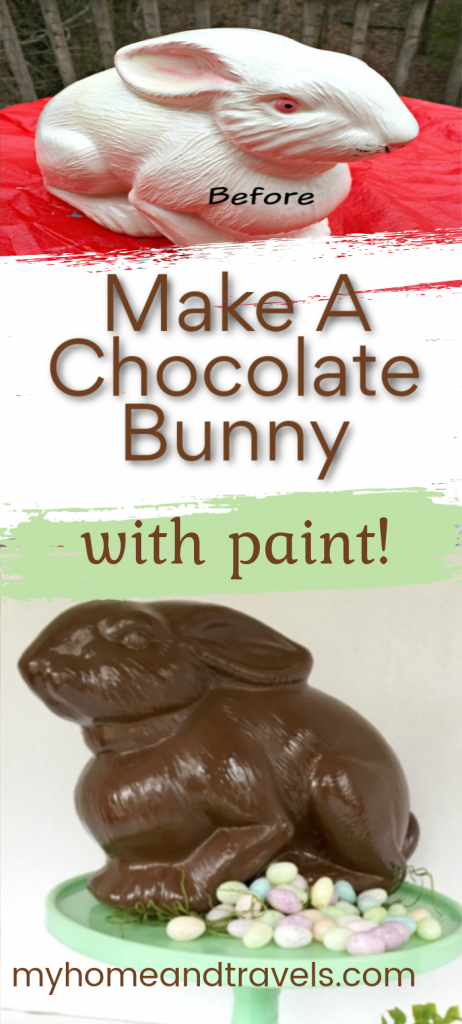 Painted Chocolate Easter Bunny