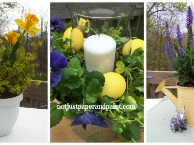 Spring is Here – Quick Centerpieces – Real or Faux?