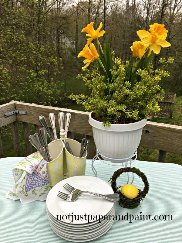 daffodil pot named  notjustpaperandpaint.com