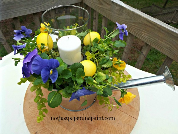 pansy with eggs named  notjustpaperandpaint.com