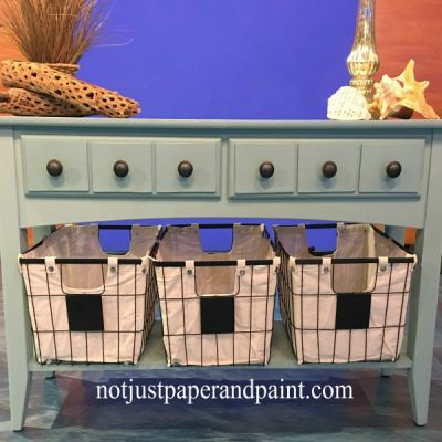 My Faux Apothecary Sofa Table