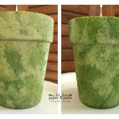 How To Make A Faux Moss Planter With Paint