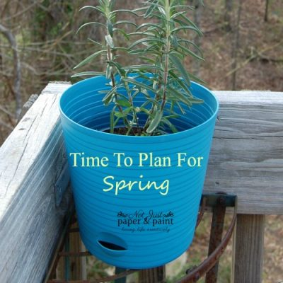 Now's The Time to Plan For Spring