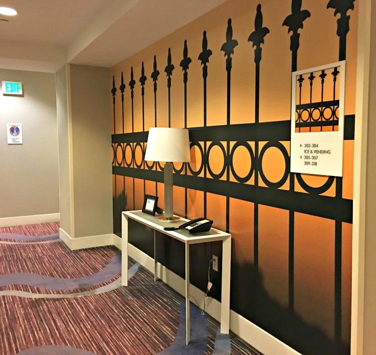 Lovely decor at Hotel Indigo Baton Rouge Louisiana