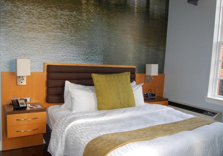 Comfy bed at Hotel Indigo Baton Rouge Louisiana