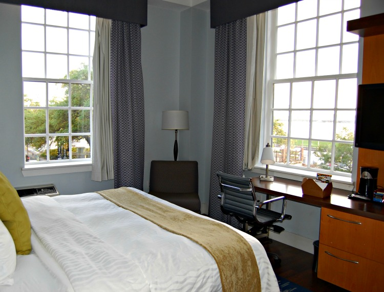 A room with a view at Hotel Indigo Baton Rouge Louisiana