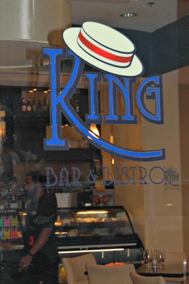 King Bar & Bistro sign in Hotel Indigo Baton Rouge Louisiana