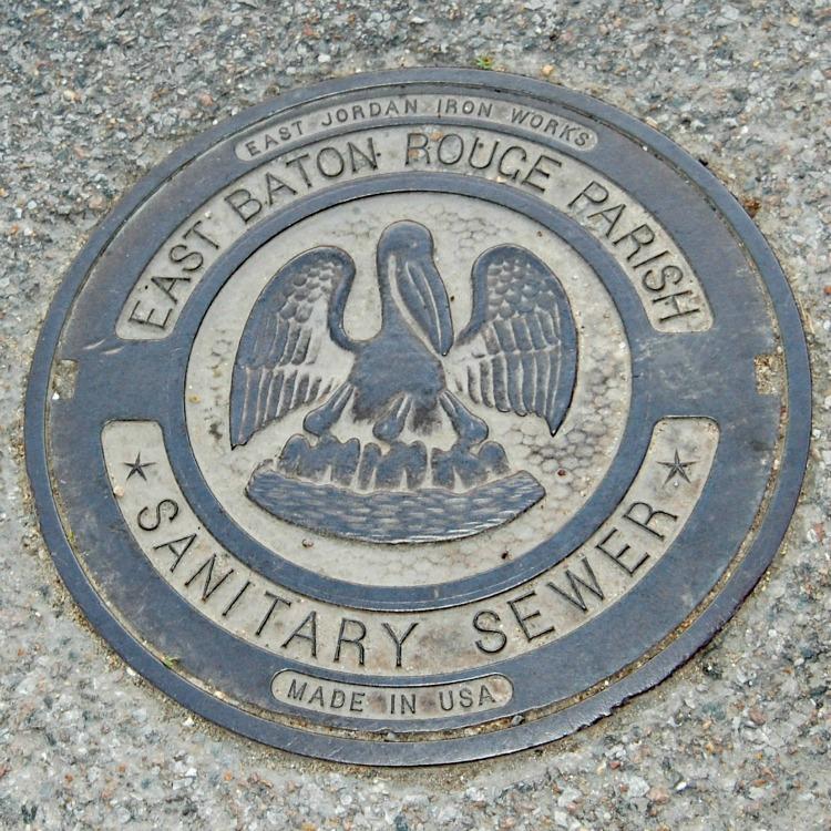 Manhole cover in Baton Rouge Louisiana