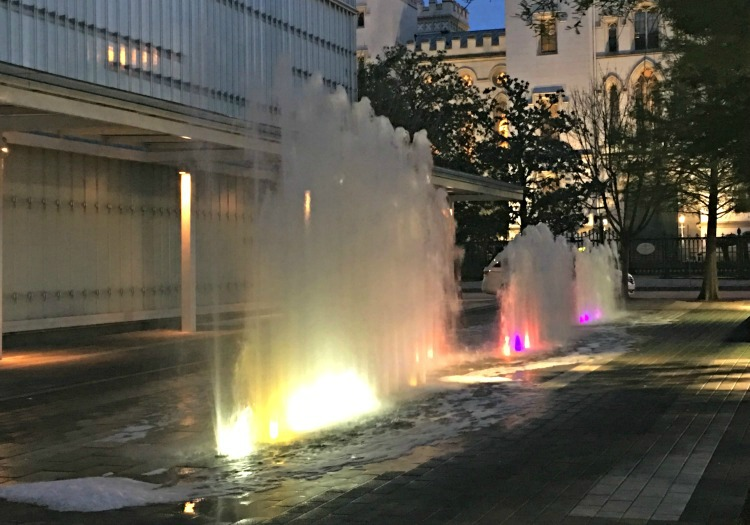 Fountains at Art Museum for LSU in Baton Rouge Louisiana