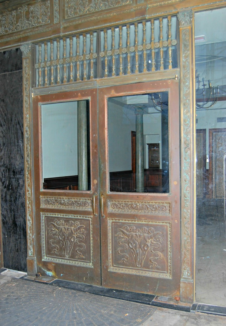 Cast iron doors from an old bank building in Baton Rouge Louisiana