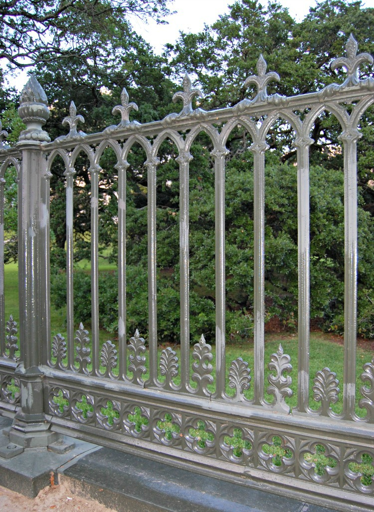 Ornate fence at old capitol building in Baton Rouge