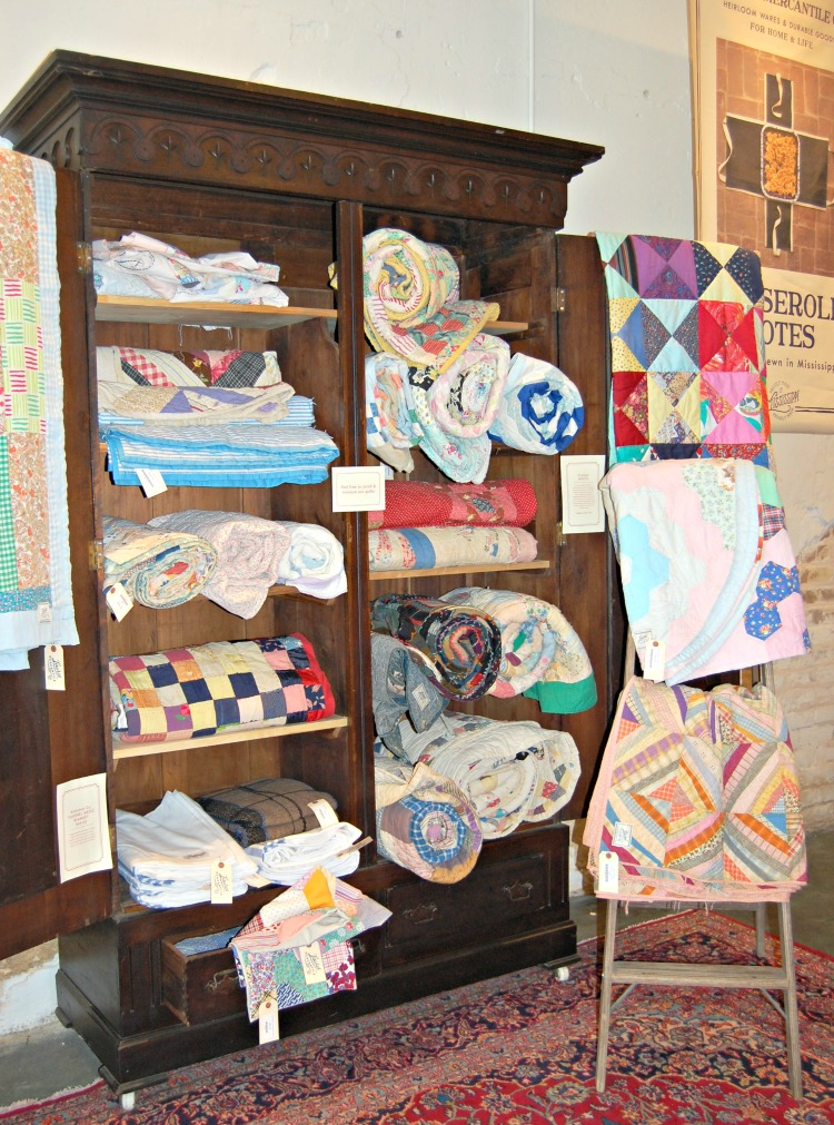 old homemade quilts and other homemade items