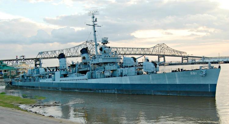 USS Kidd along Riverfront Baton Rouge Louisiana