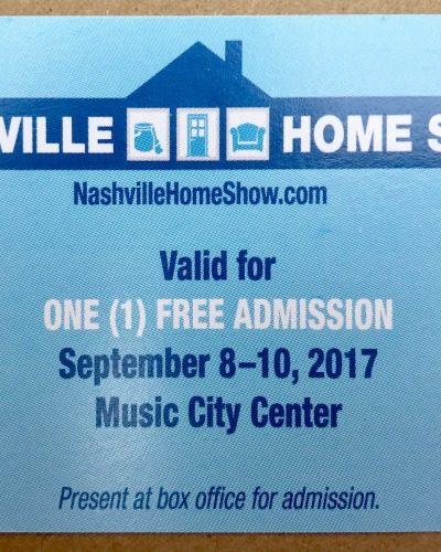 Tickets to Nashville Home Show