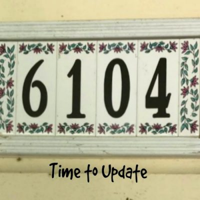 A New House Number Sign
