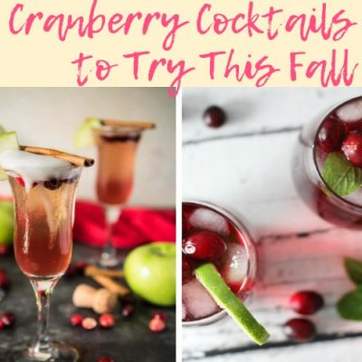 12 Cranberry Cocktails to Try this Fall