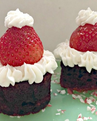 Red Velvet Brownie Bites Made With Buttermilk