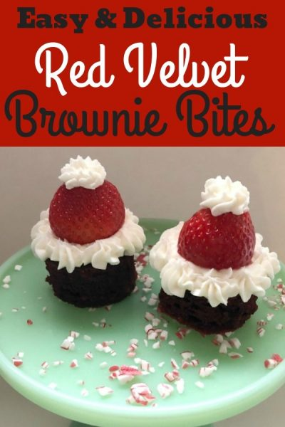red velvet brownie bites as santa hats my home and travels