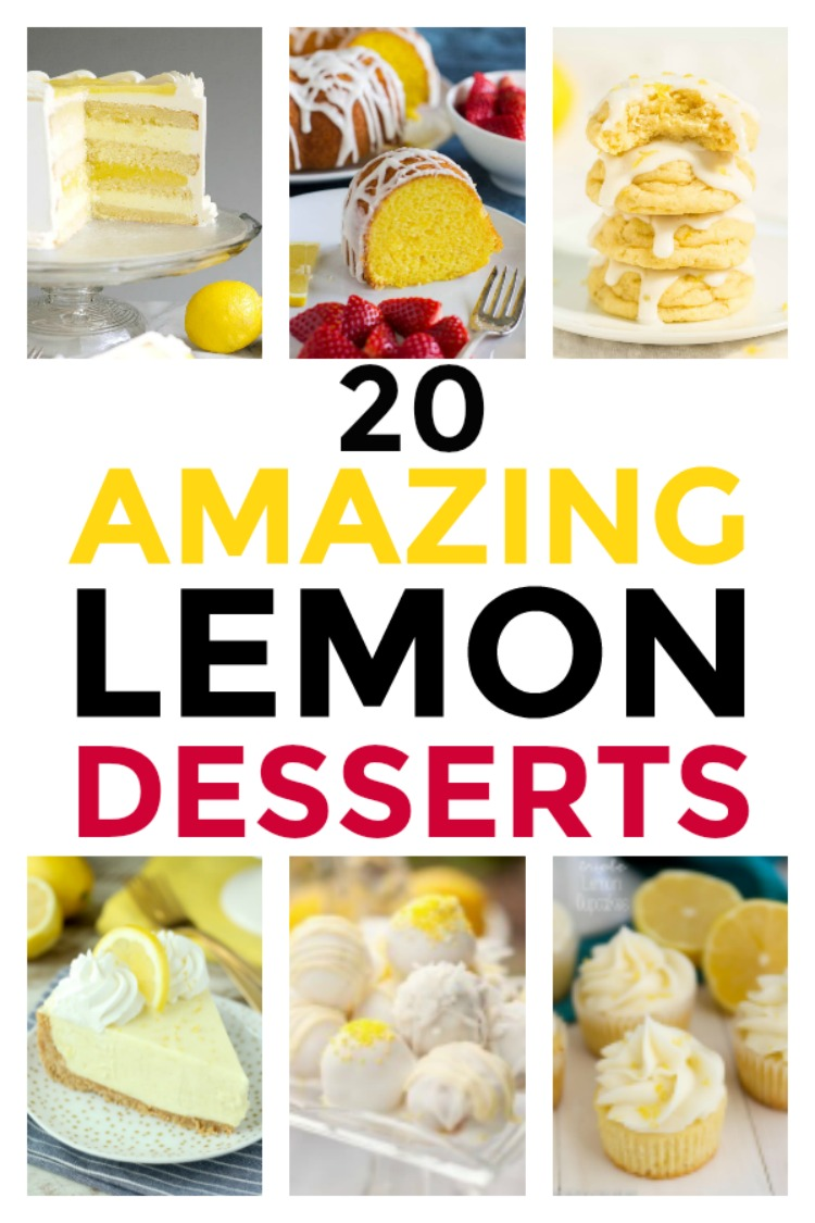 20 Amazing Lemon Desserts Are Perfect For Spring - My Home