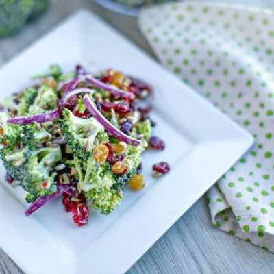 Broccoli and Bacon Salad with the Works