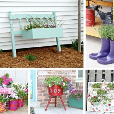 20 Outdoor Upcycled Planter Ideas To Rock Your Front Porch