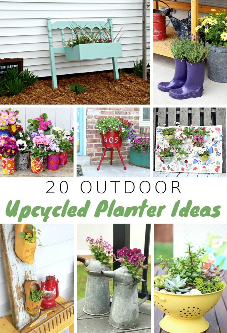 24 Outdoor Upcycled Planter Ideas To Rock Your Front Porch - My