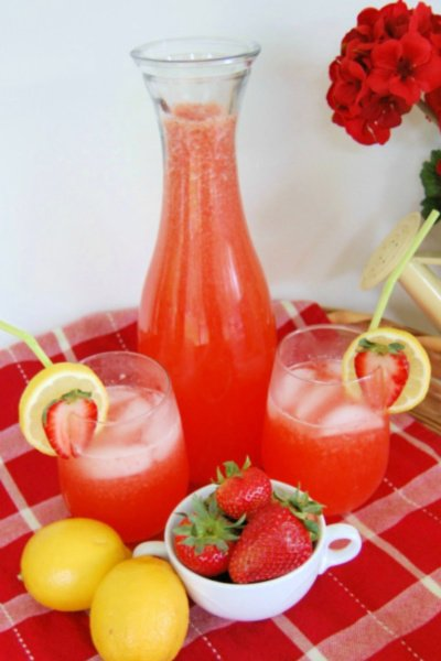best strawberry lemonade carafe my home and travels featured