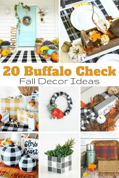 20 Buffalo Check Fall Decor Ideas