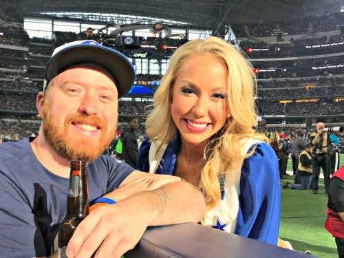 dallas cowboys game at&t stadium visit my home and travels cheerlead and doug