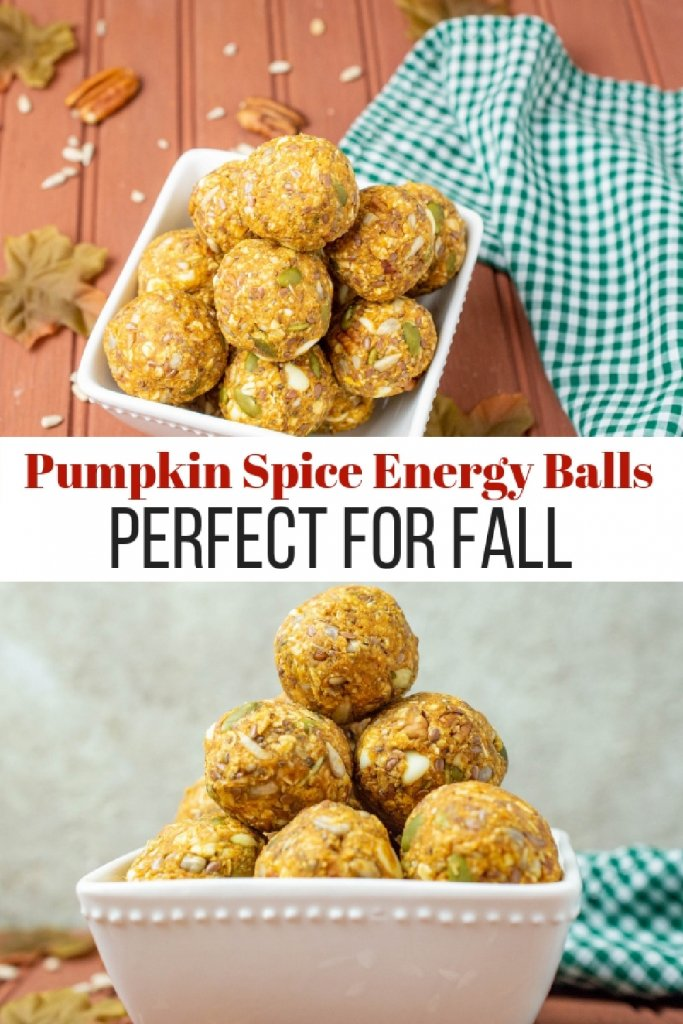 Easy and Delicious Pumpkin Spice Energy Balls my home and travels pinterest image