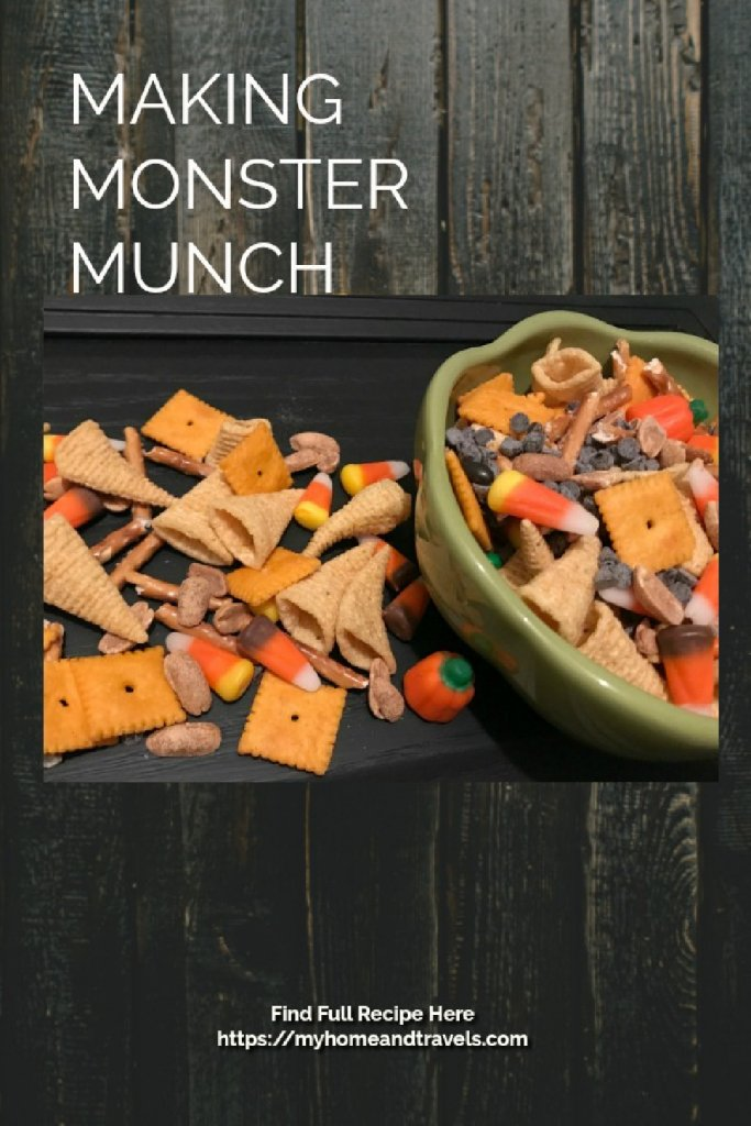 Making Monster Munch, A Fun Treat my home and travels pinterest image
