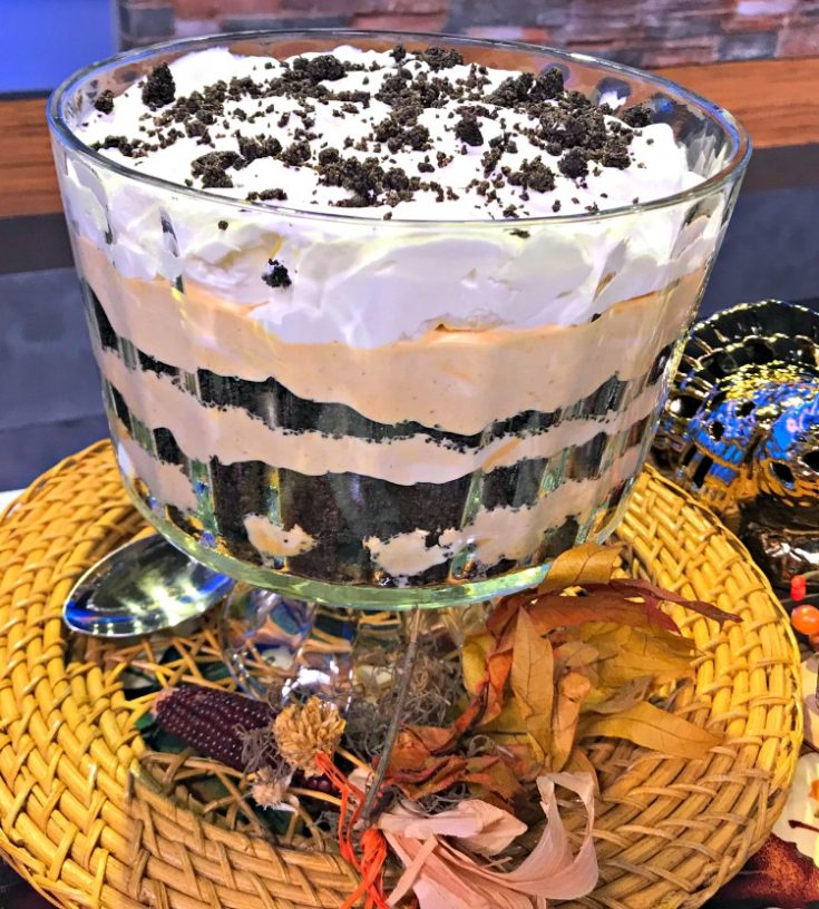 Oreo Pumpkin Trifle Dessert
