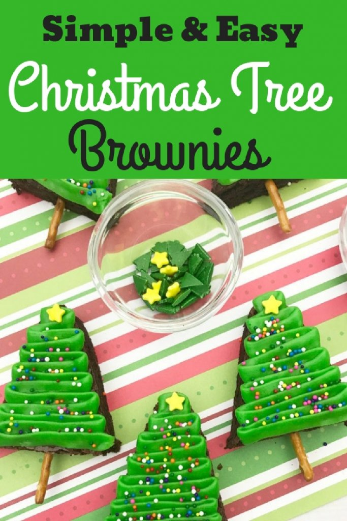 christmas tree brownies on a pretzel stick my home and travels