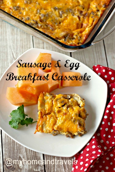 My Christmas Breakfast Menu and Table Setting casserole